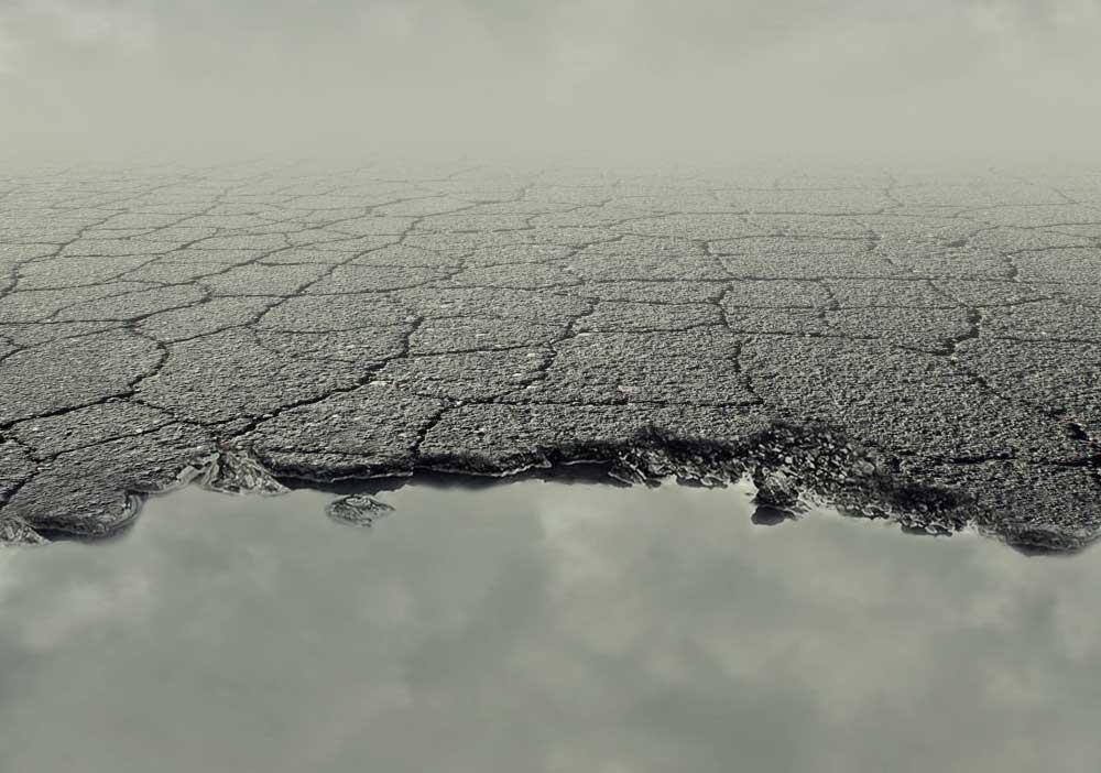 Slecht asfalt